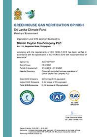 Green House Gas Verification Opinion For Dilmah